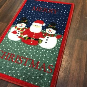 NON SLIP CHRISTMAS MATS 50X80CM GEL BACKING GOOD QUALITY RUG DESIGN ALL COLOURS